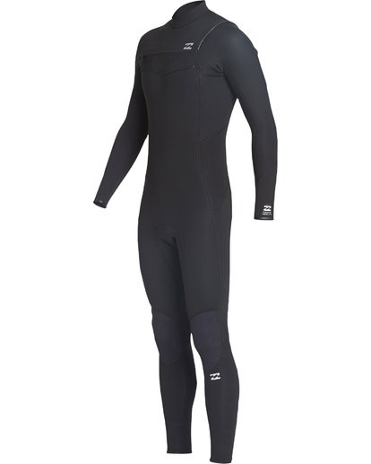 0 4/3 Absolute Chest Zip Fullsuit Black MWFUVBC4 Billabong