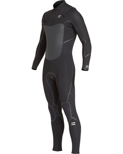 0 3/2 Furnace Absolute X Chest Zip Fullsuit Black MWFUVBE3 Billabong