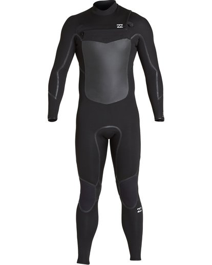 1 4/3 Absolute X Chest Zip Fullsuit Black MWFUVBE4 Billabong