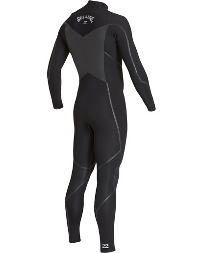 3 4/3 Absolute X Chest Zip Fullsuit Black MWFUVBE4 Billabong