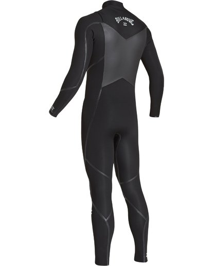 5 4/3 Absolute X Chest Zip Fullsuit Black MWFUVBE4 Billabong
