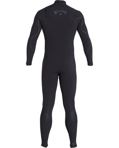 4 3/2 Furnace Comp Chest Zip Fullsuit Black MWFUVBF3 Billabong