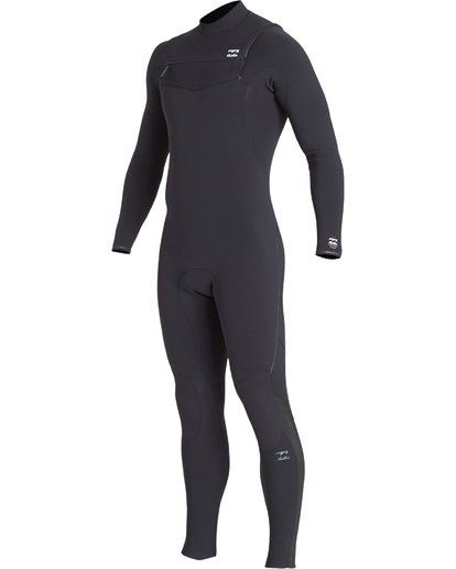 0 4/3 Furnace Comp Chest Zip Fullsuit Black MWFUVBF4 Billabong