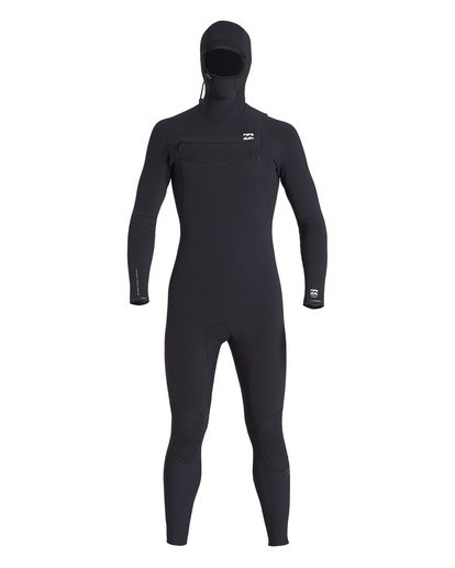 1 4/3 Furnace Comp Chest Zip Hooded Fullsuit Black MWFUVBH4 Billabong