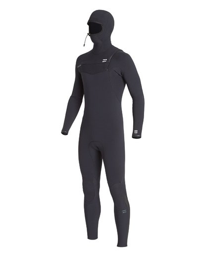 0 4/3 Furnace Comp Chest Zip Hooded Fullsuit Black MWFUVBH4 Billabong