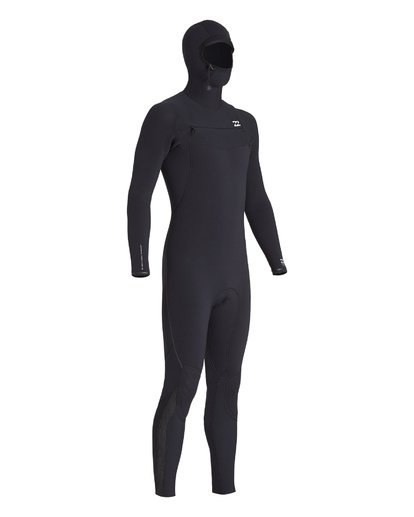 5 4/3 Furnace Comp Chest Zip Hooded Wetsuit Black MWFUVBH4 Billabong