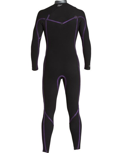 1 3/2 Revolution  Pro Chest Zip Fullsuit Black MWFUVBP3 Billabong