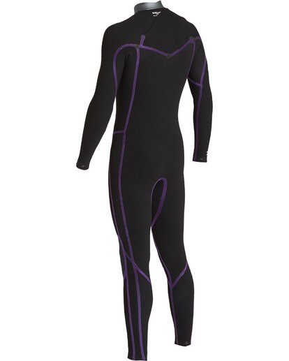 7 3/2 Revolution  Pro Chest Zip Full Wetsuit Black MWFUVBP3 Billabong