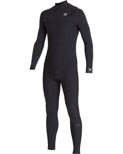 0 4/3 Revolution Pro Chest Zip Fullsuit Black MWFUVBP4 Billabong