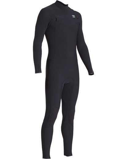 1 4/3 Revolution Pro Chest Zip Fullsuit Black MWFUVBP4 Billabong