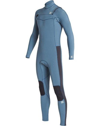 0 4/3 Revolution Chest Zip Fullsuit Blue MWFUVBR4 Billabong