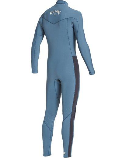 3 4/3 Revolution Chest Zip Fullsuit Blue MWFUVBR4 Billabong