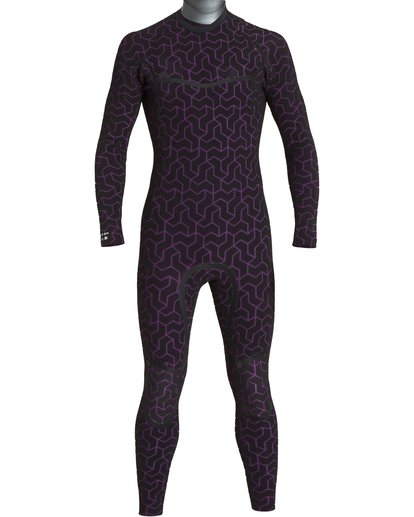5 4/3 Furnace Ultra Chest Zip Fullsuit Black MWFUVBU4 Billabong