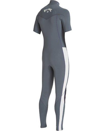 1 2/2 Furnace Revolution Chest Zip Short Sleeve Fullsuit Grey MWFUVBV2 Billabong
