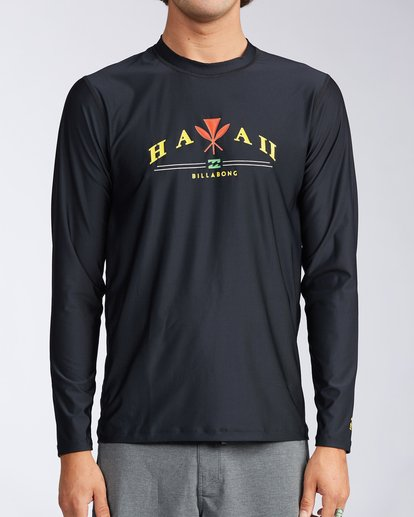 0 Ancestry Hawaii Long Sleeve Rashguard  MWLYAALH Billabong