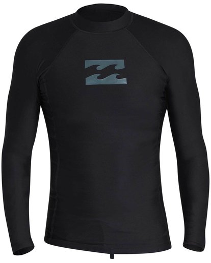 0 All Day Wave Long Sleeve Wetshirt Black MWLYJICL Billabong