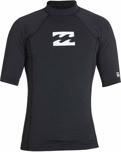 0 All Day Wave Short Sleeve Wetshirt Black MWLYJICS Billabong