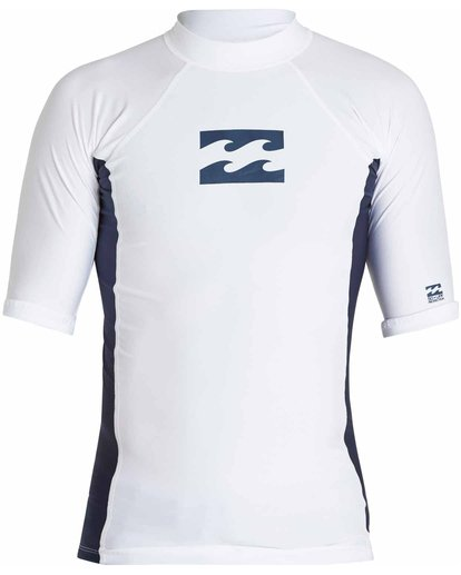 0 All Day Wave Short Sleeve Wetshirt White MWLYJICS Billabong