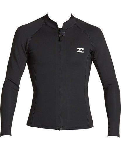 1 2mm Revolution Front Zip Jacket Black MWSHVBF2 Billabong