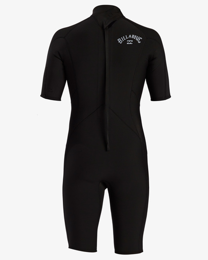 4 2/2 Absolute Back Zip Short Sleeve Flatlock Spring Wetsuit Black MWSP3BAB Billabong