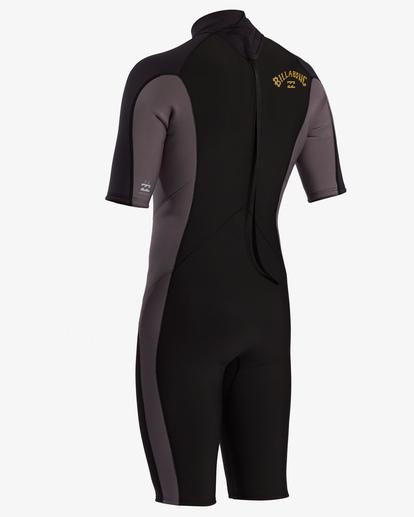 3 2/2 Absolute Back Zip Short Sleeve Flatlock Spring Wetsuit Black MWSP3BAB Billabong