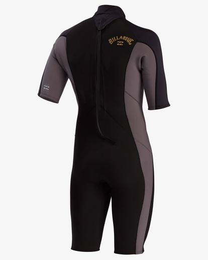 5 2/2 Absolute Back Zip Short Sleeve Flatlock Spring Wetsuit Black MWSP3BAB Billabong