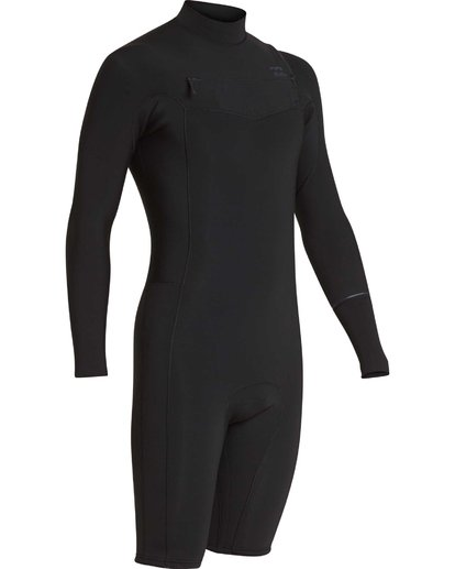 2 2mm Revolution Chest Zip Long Sleeve Springsuit Black MWSPQBRL Billabong