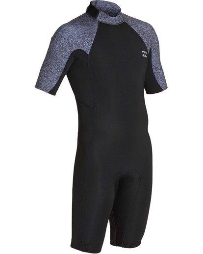 2 2mm Absolute Back Zip Short Sleeve Flatlock Spring Suit Grey MWSPTBAB Billabong