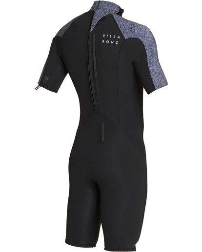3 2mm Absolute Back Zip Short Sleeve Flatlock Spring Suit Grey MWSPTBAB Billabong