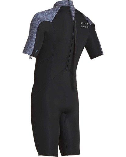 5 2mm Absolute Back Zip Short Sleeve Flatlock Spring Suit Grey MWSPTBAB Billabong