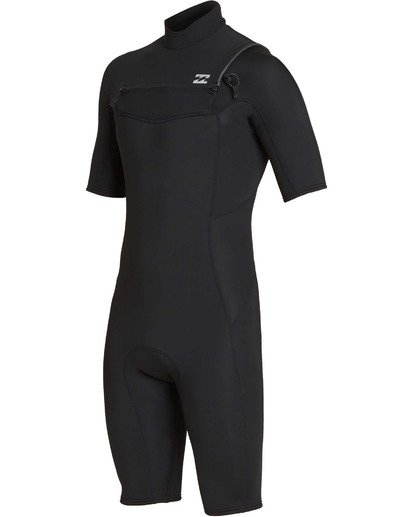 0 2mm Absolute Chest Zip Short Sleeve GBS Springsuit Black MWSPTBAG Billabong