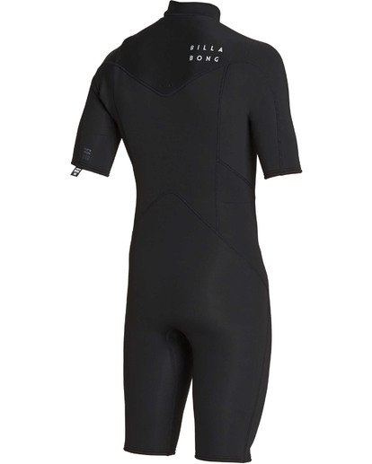 3 2mm Absolute Chest Zip Short Sleeve GBS Springsuit Black MWSPTBAG Billabong