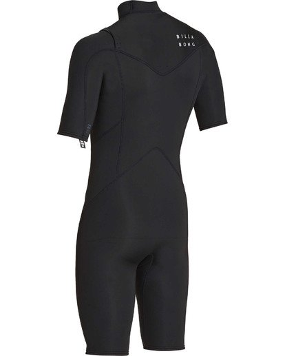 5 2mm Absolute Chest Zip Short Sleeve GBS Springsuit Black MWSPTBAG Billabong