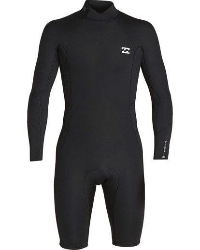 1 2mm Absolute Back Zip Long Sleeve Springsuit Black MWSPTBBL Billabong