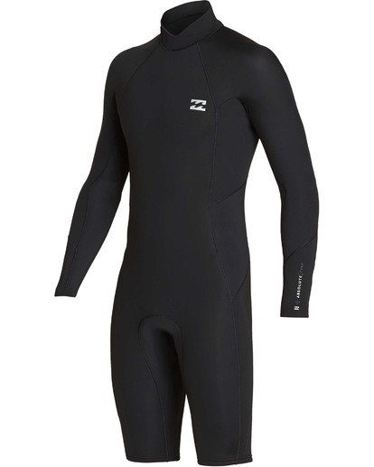 0 2mm Absolute Back Zip Long Sleeve Springsuit Black MWSPTBBL Billabong