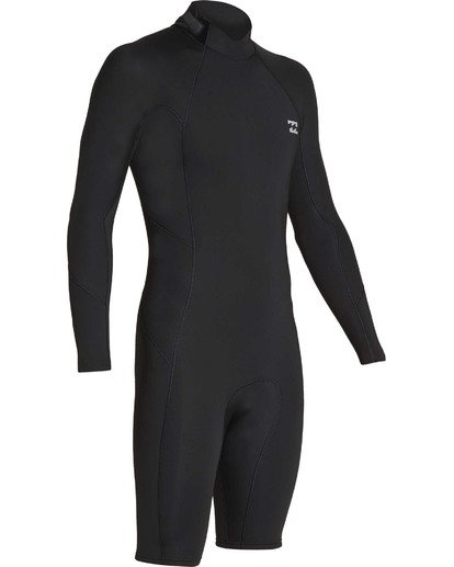 2 2mm Absolute Back Zip Long Sleeve Springsuit Black MWSPTBBL Billabong