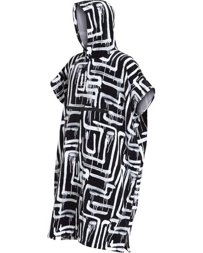 1 Hooded Poncho Black MWTWQBHT Billabong