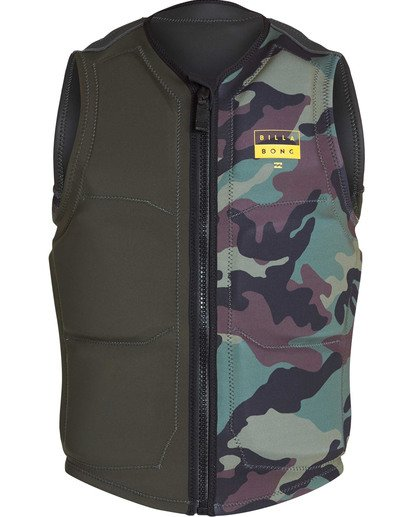 1 Interchange Wake Vest Green MWVETBIN Billabong