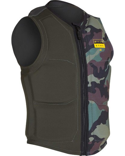2 Interchange Wake Vest Green MWVETBIN Billabong