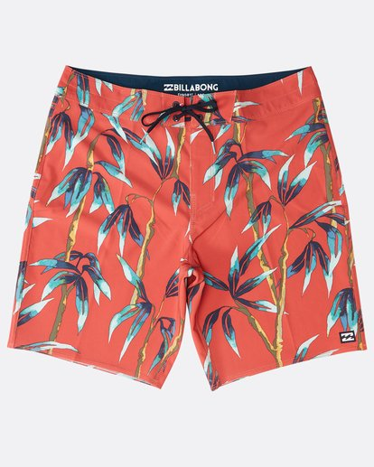 "0 Sundays Pro 18"" Boardshorts Red N1BS06BIP9 Billabong"