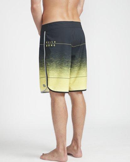 "6 73 Stripe Pro 19"" Boardshorts Yellow N1BS10BIP9 Billabong"