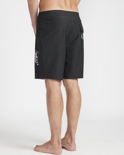 "7 Warp Pro 18"" Boardshorts Black N1BS14BIP9 Billabong"