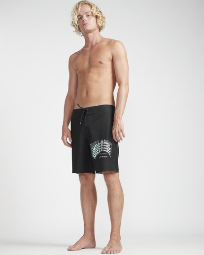 "3 Warp Pro 18"" Boardshorts Black N1BS14BIP9 Billabong"