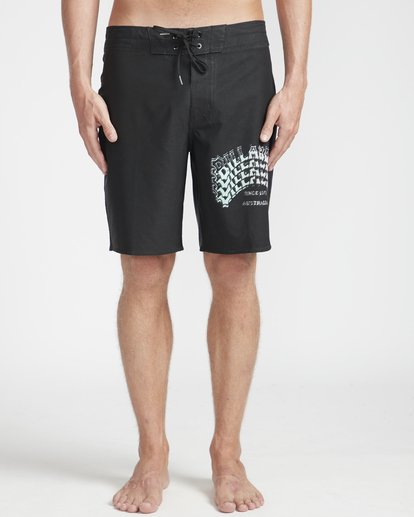 "4 Warp Pro 18"" Boardshorts Black N1BS14BIP9 Billabong"