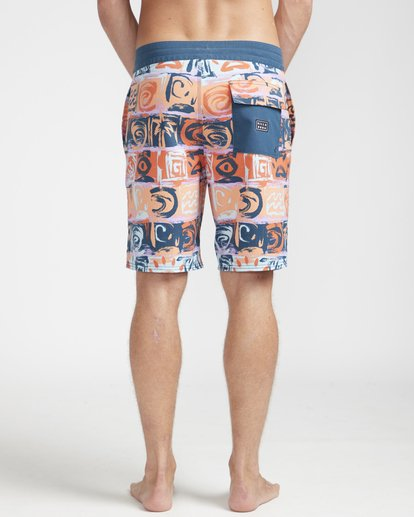"7 Sundays Lo Tides 18"" Boardshorts Orange N1BS21BIP9 Billabong"