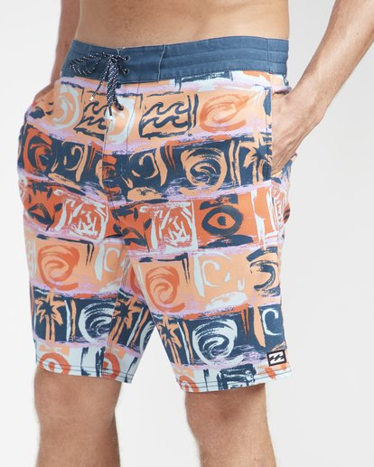 "3 Sundays Lo Tides 18"" Boardshorts Orange N1BS21BIP9 Billabong"