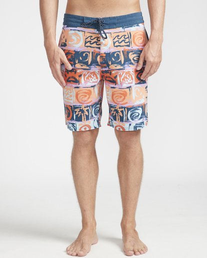 "4 Sundays Lo Tides 18"" Boardshorts Orange N1BS21BIP9 Billabong"
