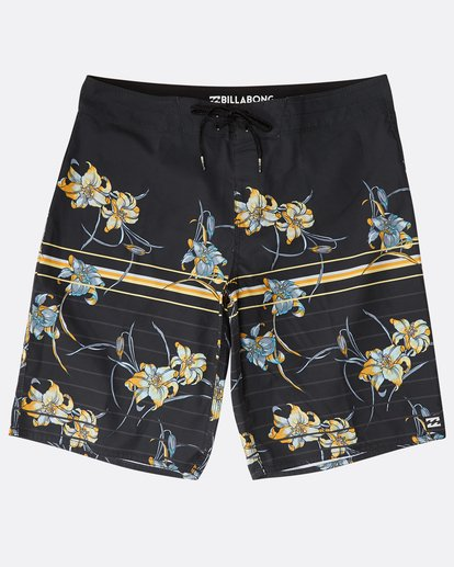 "0 Resistance Floral Originals 20"" Boardshorts Black N1BS29BIP9 Billabong"