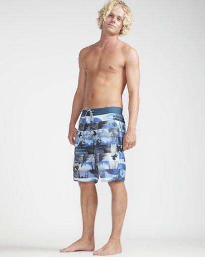 "3 Horizon Originals 20"" Boardshorts Blue N1BS30BIP9 Billabong"