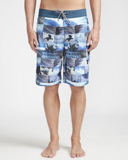 "4 Horizon Originals 20"" Boardshorts Blue N1BS30BIP9 Billabong"
